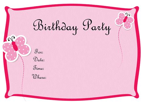 printable birthday invitations for girls bagvania free