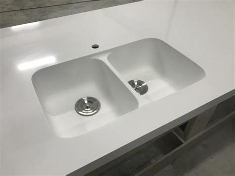 Corian Finish Glacier White Corian Countertops Solid Surface With Sink