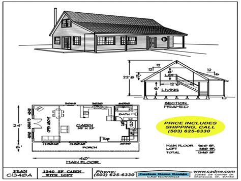 free cabin floor plans c1340a cabin plan details cabin floor plans with loft