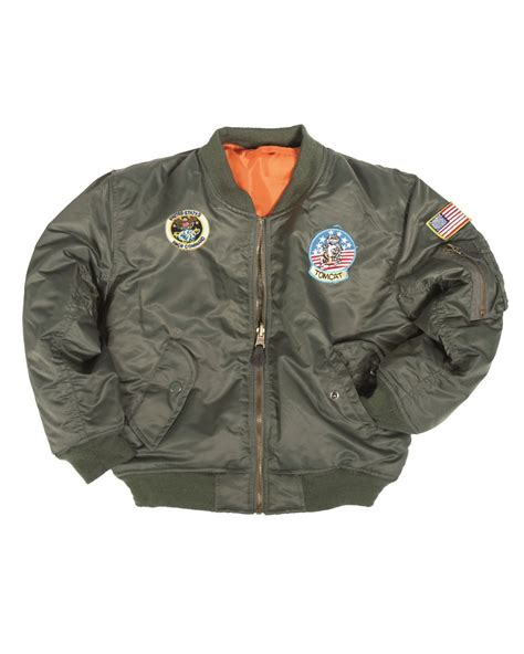 mil tec ma1 jacket patches new children army airforce flight pilot bomber ebay