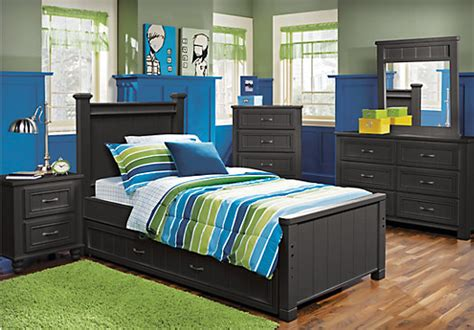boys black bedroom furniture cottage color alternate s black 5 pc full panel bedroom