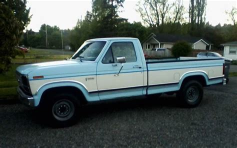 truck ford blue truck you a baby blue 1986 ford f 250 ford