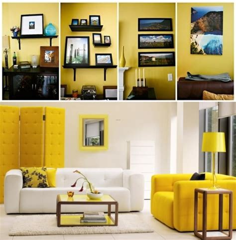yellow interior yellow home living room interior design and concept color