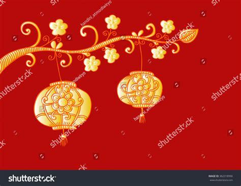 new year flower lantern new year flower lantern stock vector 362318990