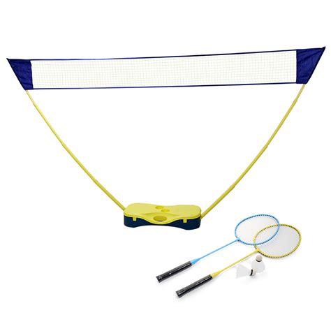 portable badminton set net battledore outdoor
