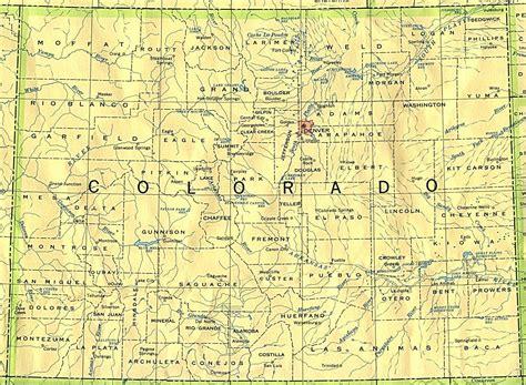 map of cities in colorado colorado 90 mapsof net