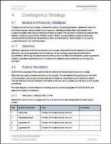 Business Continuity Plan Template Business Continuity Plan Template Contingency Strategy