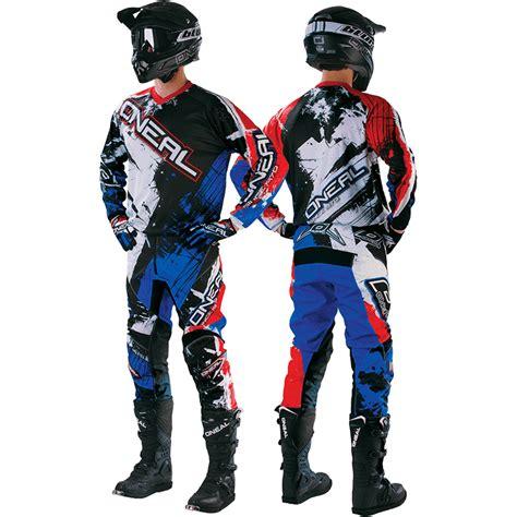Glove Oneal Youth Anak Original oneal 2017 youth mx element shocker black blue motocross gloves gear set ebay