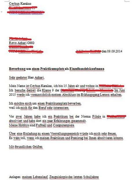 Bewerbungsschreiben Praktikum Hotel Korrektur An Bewerbungsschreiben F 252 R Einen Praktikum Bewerbung