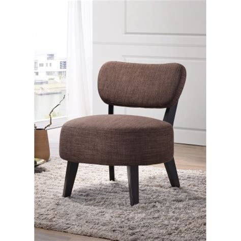 Oversized Accent Chair Brown Black Upholstered Fabric Armless Oversized Accent Chair With Wood Frame Legs Walmart