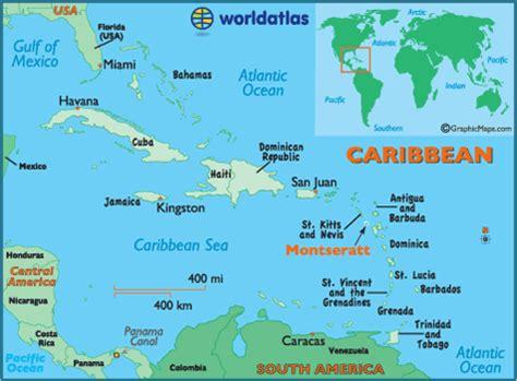 Montserrat facts on largest cities, populations, symbols   Worldatlas.com