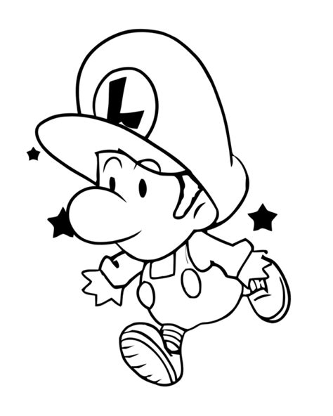 coloring pages of baby mario and luigi baby mario and luigi coloring pages coloring home