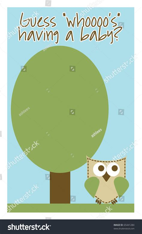 Baby Shower Invitations With Owl Theme by Owl Theme Boy Baby Shower Invitation Stock Photo 65441284