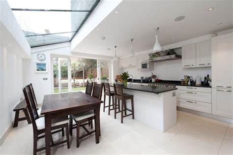 ideas for kitchen extensions side return extension terrace google search kitchens