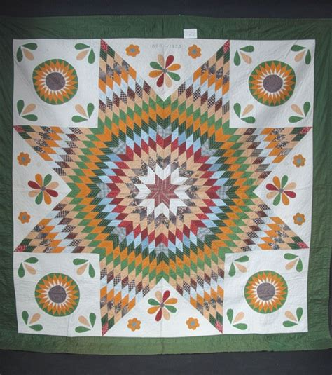 graphic three generation antique lone quilt with