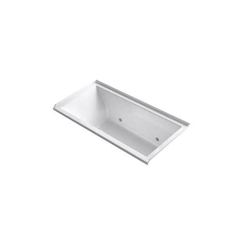 kohler underscore bathtub kohler underscore 5 ft acrylic rectangular drop in