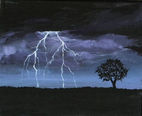 storm acrylic painting of lightning erinn s artwork
