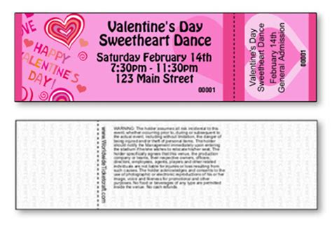 printable valentine tickets buy valentine s day products