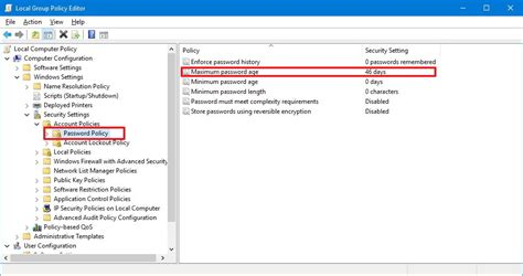 windows reset password history how to force users to change their password periodically