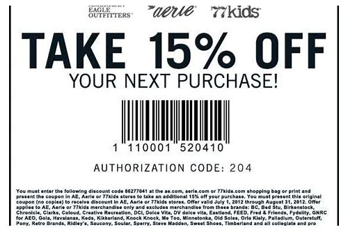 american apparel in store printable coupons