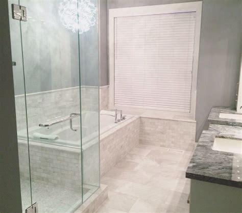 luxurious ensuite bathroom iceberg marble tile 3 quot x6 quot wall 12 quot x24 quot floor gvt installations