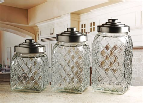 circleware 3 pc embossed canister set