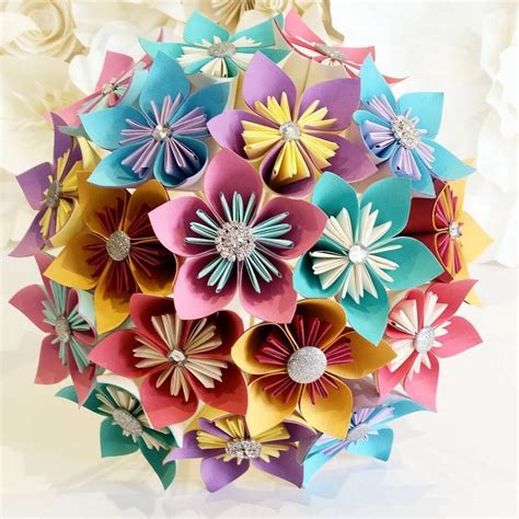 origami paper flower bouquet tutorial origami how to make lavender paper flower easy origami