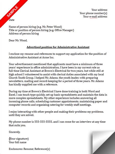 Cover Letter Administrative Assistant Ngo Administrative Assistant Cover Letter Sle