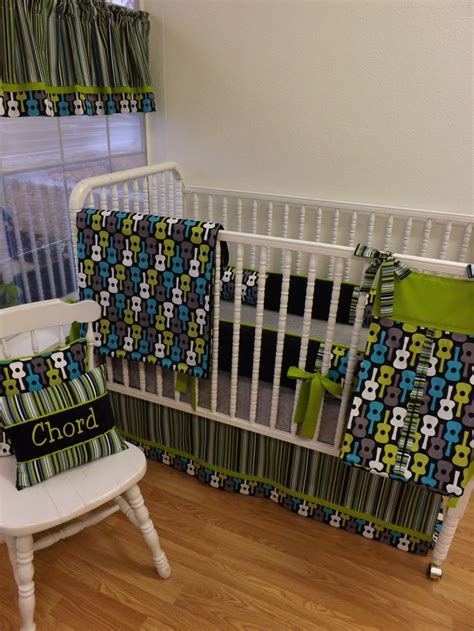 Guitar Crib Bedding Crib Bedding Made To Order Groovy Guitar Baby Bedding 409 00 Via Etsy Lagoon Groovy