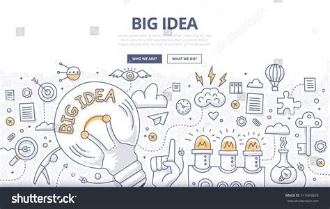 doodle website doodle design style concept big idea stock vector