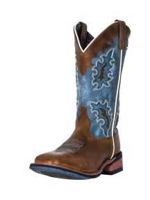 laredo womens isla blue square toe boots 5666