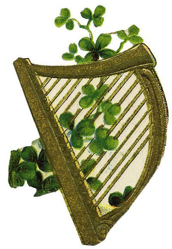 harp with clovers flickr photo sharing