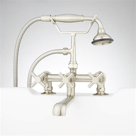 deck mount bathtub faucet with sprayer deck mount bathtub faucet with sprayer