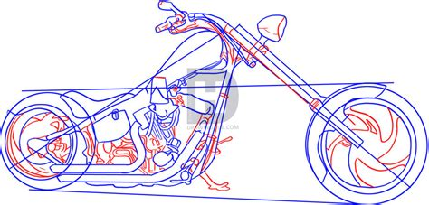 How To Draw A Motorcycle Step By Step Drawing Guide By