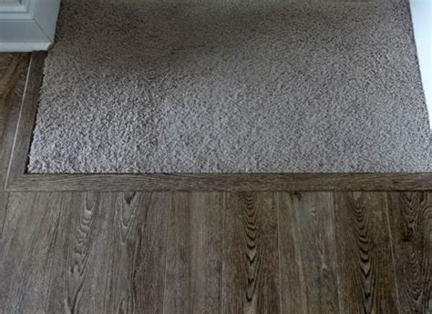 An easy way to transition carpeted stairs into laminate or