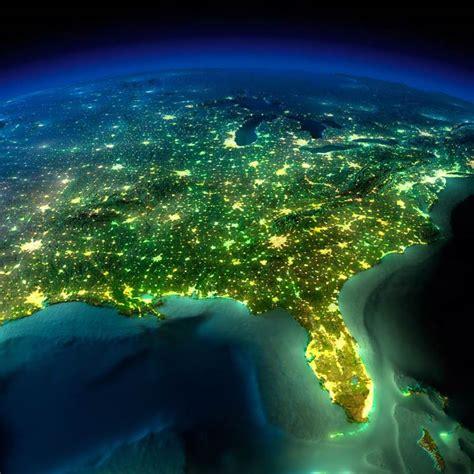 noite na terra  fotos incriveis  planeta visto