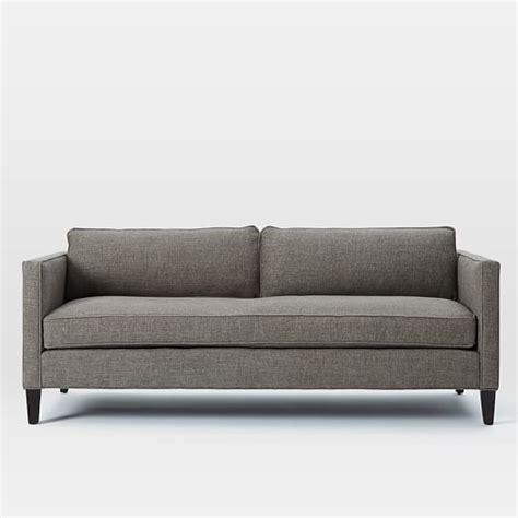 dunham sofa dunham box cushion sofa 84 quot west elm