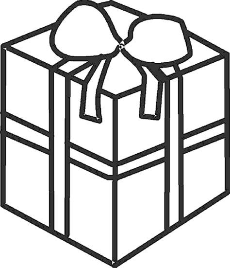 coloring page of gift box box coloring pages 5