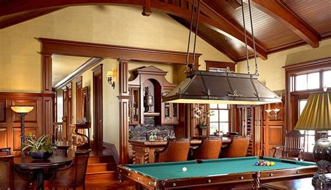 british colonial game room pool table  english