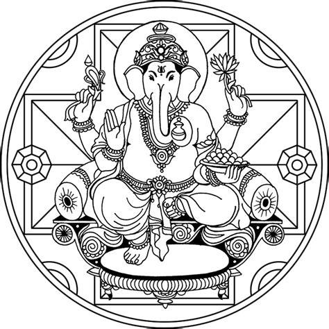 imagenes de mandalas de la india mandala ganesha 2 dios de la protecci 243 n y de la buena