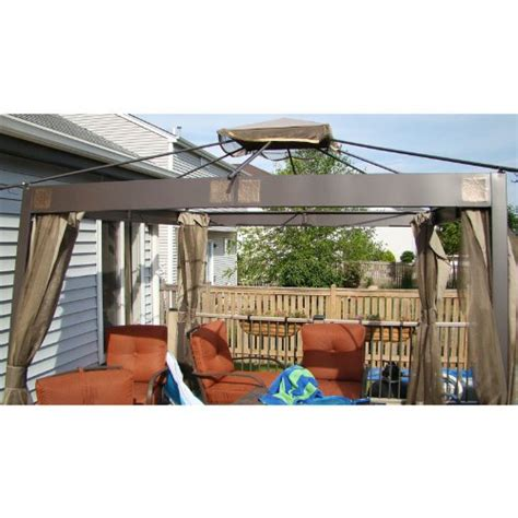 Patio Awning Menards Garden Winds 10 X 10 Square Post Gazebo Replacement Canopy