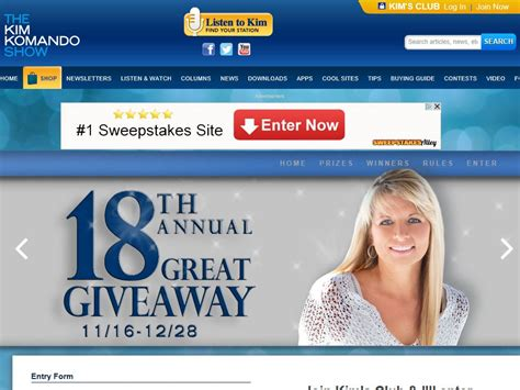 Kim Komando Giveaway - the kim komando show 18th annual great giveaway sweepstakes fanatics