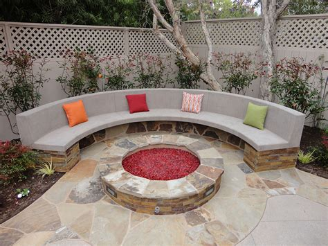 fire pit bench seating fire pits stone fire pit and bench gemini 2 landscape
