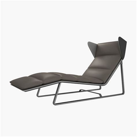 modern lounge chaise esedra romea modern chaise lounge 3d model max obj 3ds fbx