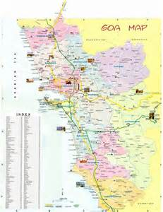 Goa India Map by Goa Maps Resorts In Goa