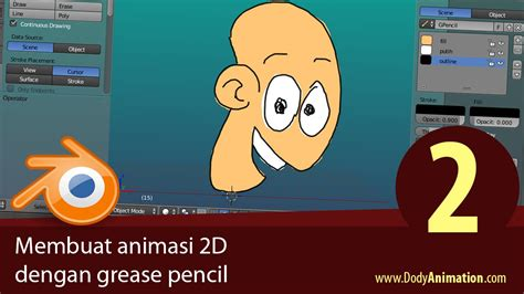 membuat video animasi membuat animasi 2d dengan grease pencil bag 2 youtube