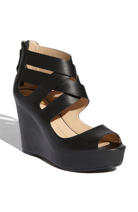 dv dolce vita sandals dv by dolce vita jude sandal in black black leather lyst