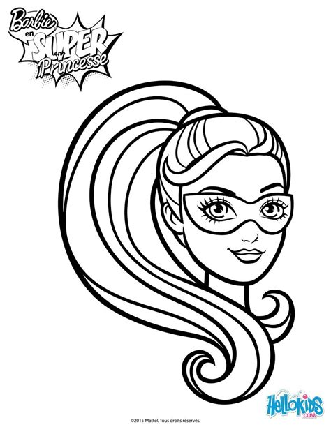 super barbie coloring page barbie super hero mask coloring pages hellokids com
