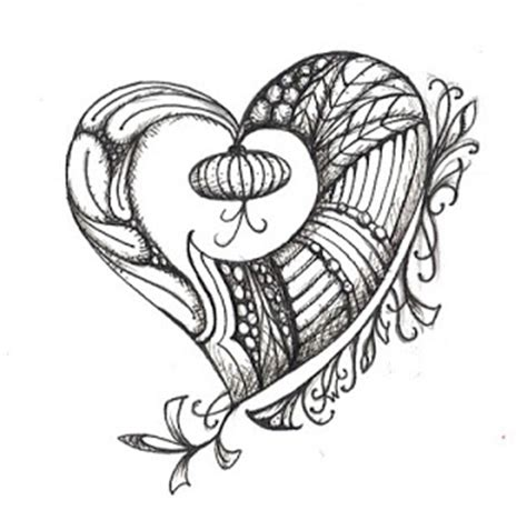 how to draw a tangle doodle part 2 susan walker hearts for inking falling in with