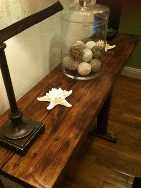 Upcycled Console Table Farmhouse Style Foyer Sofa Table Made From Upcycled Pallet Wood Https Www